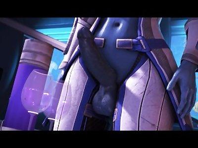 (YourBigJohnson) Futa-Liara Grows Into a Busty Giantess