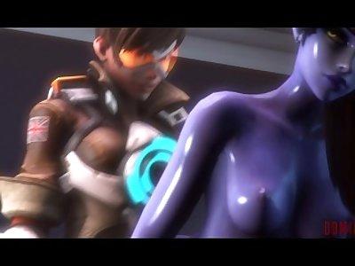 Erection [Futa Tracer x Futa Widowmaker Overwatch animation]