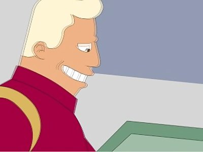 Futurama The Captain show's liching skills