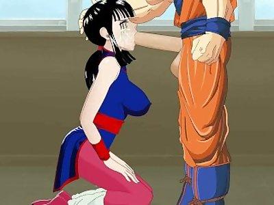 DBZ Goku and Chi Chi