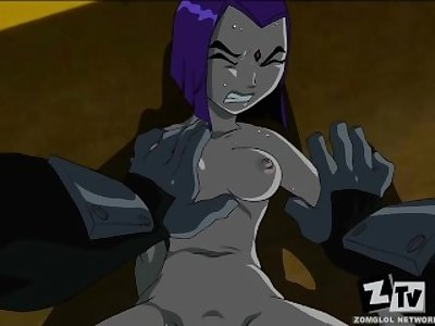 Teen Titans Ravens gets fucked good. (In HD)