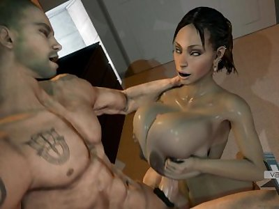 Sheva Alomar [RE5] Big Black Tit Tittyfuck SFM (2014)