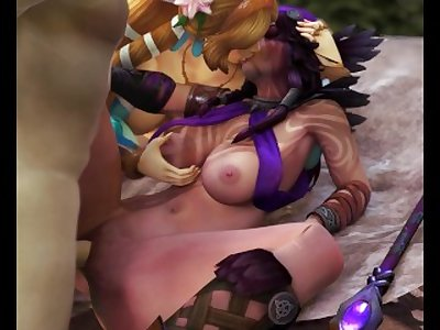Aphrodite and The Morrigan Threesome [SFM]
