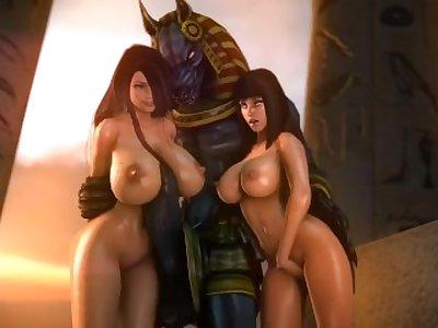 -Smite SFM- Anubis porn