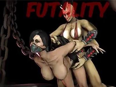 Sheeva and Kitana Lesbian starpon