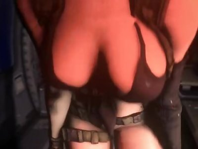 MGS Quiet helicopter quickie with creampie