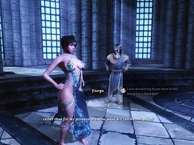 Sexy Skyrim - J'zargo shows Dovakhin why he should be Archmage .
