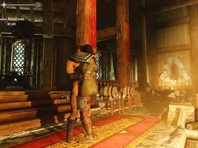 Sexy Skyrim- Orc Amazon knows how to please a man