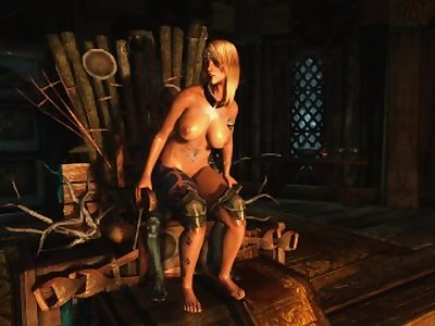 Sexy Skyrim-Rieklings are horny little devils
