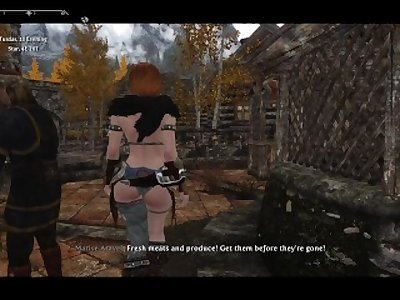 Sexy Skyrim- Dovakhin and an Argonian .