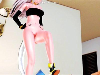 Majin 21 wants to know if cum tastes good (Honey Select: Dragon Ball FZ)
