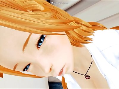 Rangiku relieves two suffering souls (Honey Select: Bleach)
