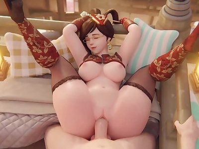 Mei Gets Fucked Overwatch (Blender Animation W/Sound)