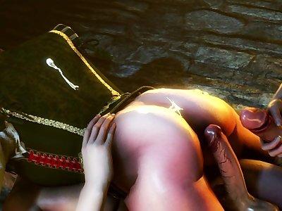 The Witcher 3: Shani with 3 Futa Succubi