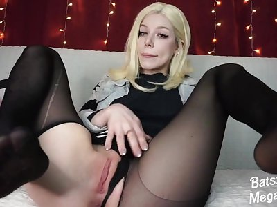 Horny Android 18 fuck pussy with big dildo cosplay ahegao feet pov blowjob