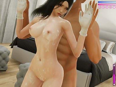 cute girl wearing virgin killer having sex at her bedroom