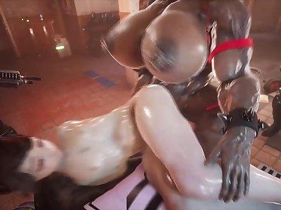 Hot Futa Orgy in a Gym