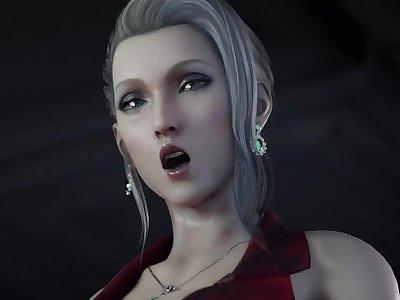 Final Fantasy - Scarlet Teasing a Big Cock