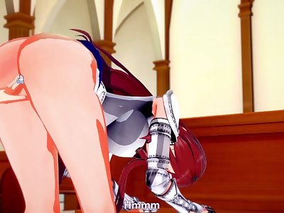 Fairy Tail: Erza gets POUNDED (3D Hentai)