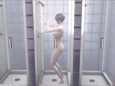 Naruto Hentai Hinata Kiba and Shino Team 8 Hostel Showers