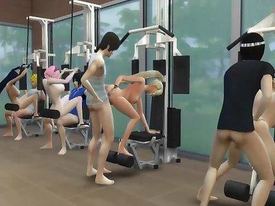 Hinata Sakura Ino and Tenten Fucked Doing Hot Wives Exercises