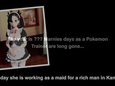 Maid Marnie serves her master as a perfect slut (Pokemon Sword Shield Parody)