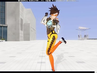 3D HENTAI POV OVERWATCH Tracer fucks you and has many orgasms
