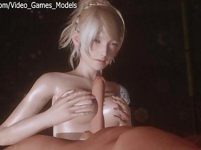 Final Fantasy 15 Lunafreya Hentai Porn