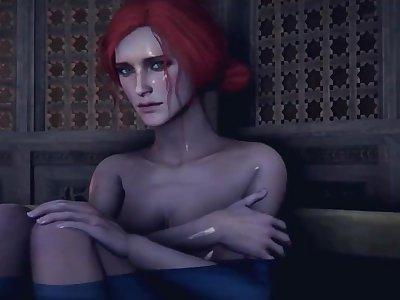 [SFM] Secret desires of Triss 3D Hentai