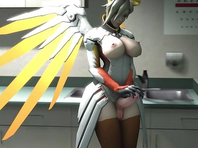 Mercy and Widowmaker fully teach D.Va and Tracer some spelunking SFM