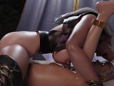 Sindel and Cassie (3D Futa Animation)