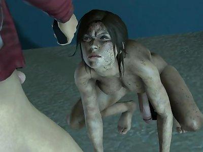 Thief Lara and Zoey Punishment 2 versions