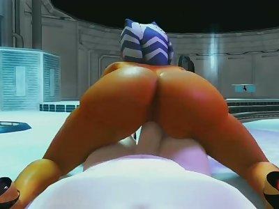 Star Wars - Ahsoka Tano Porn POV