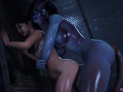 3D SFM [Big Johnson] Draenei banging Zoey hard (NO SOUND)
