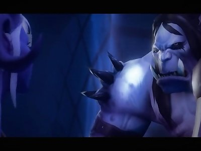 Hot Draenei Gets Destroyed By Horde Cocks and Covered In Semen