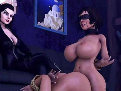 Bioshock infinite: Liz and her pets {FUTA}