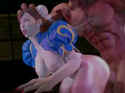 Chun-Li got capture fuck has sound by Maiden-masher