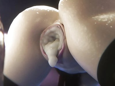 Tifa Lockhart Takes A Huge Cock From Behind
