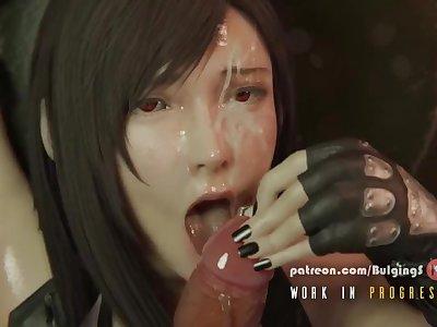 Final Fantasy Tifa Facial
