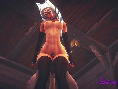 Star Wars Hentai 3D - Ashoka Tano is Fucked in a Tavern