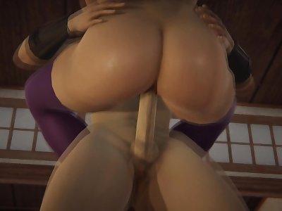 Futa - Dead or Alive - Kasumi x Ayane - 3D Porn