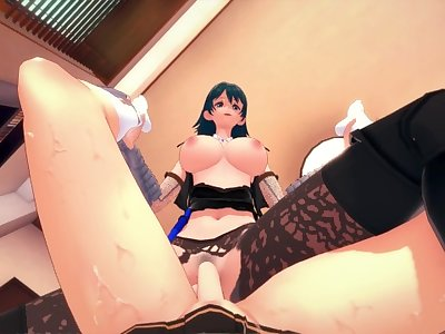 Fire Emblem futa Byleth trains your body for subsequent fights Taker POV