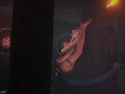 Lara Croft in the Orgasm Machine