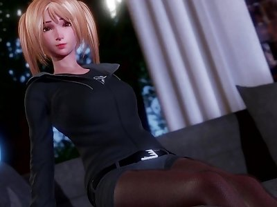 3D Hentai: FUCKED TEEN BLONDE ON THE COUCH (Perfect Lover)