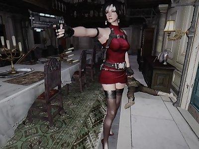 skyrim RESIDENT EVIL 2 Zombie fuck Ada