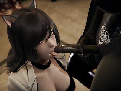 Futa - RWBY - Dark Elf x Belladonna - 3D Porn