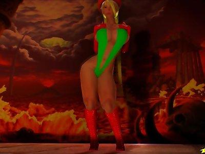 Cammy fucking hard (3D Porn Animation) Monster Cock 4K