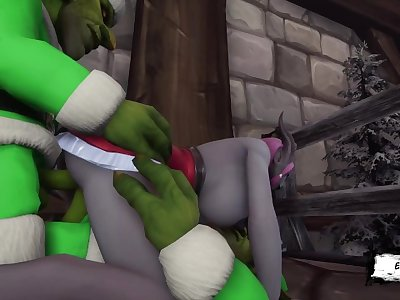 Big bad Green Santa fuck DRAENEI XXXmas 2019