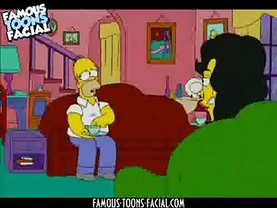 Marge Simpson and Property Agent in Threesome Sex Simpsons Video