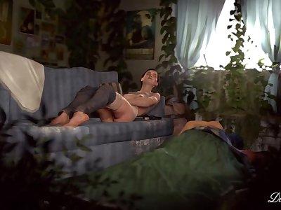 Adult Ellie masturbating - The Last of Us: Part 2 - TLoU2